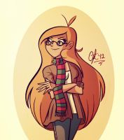 Hipster Chick by GusDraws
