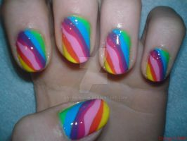 Rainbow Nail Design by AnyRainbow
