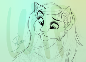 Haley WIP by ShimiArt