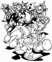 Hedgehog Havoc inked by RadzHedgehog