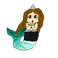 Finally did a chibi-mermaid-thing by Prinypie