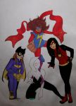 The coolest looking comic book ladies! (colors) by minihumanoid