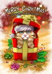 Christmas card, grumpy cat by clefchan