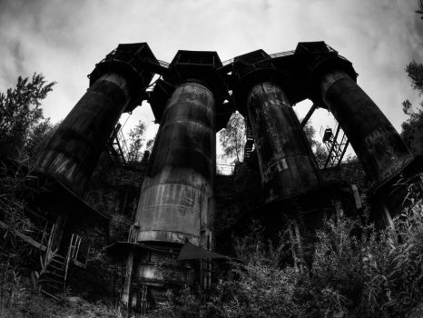 Four Crushing Towers by Gundross