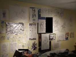 My OLD Art Wall! v2 by Jailboticus