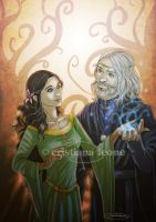 Merlin and Vivienne by CristianaLeone