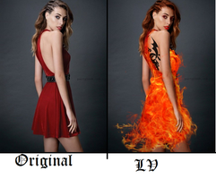 Compare images- Fire Dress by LV-deviantart
