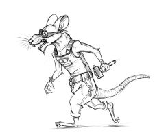 Disgruntled Worker Rat by Temiree