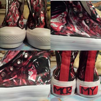 My Chemical Romance Shoes -- For Sale! by Vampiricme