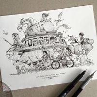 Roadtrip (Ghibli Style) by kerbyrosanes