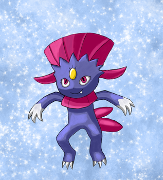 Weavile (Secret Santa) by Queen-Blanca