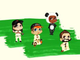 SF Giants Dolls Wallpaper by glittersprite