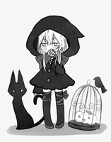 The Cat and the Crow by SymphoBunny