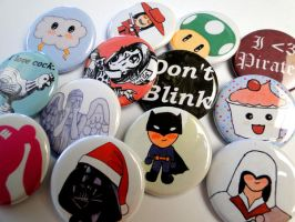 New Button Designs by salvagedsword