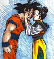 Goku and Chichi by Ai-Lupin