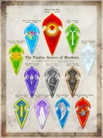 Twelve Houses of the Gondolindrim - Gondolin by Aglargon