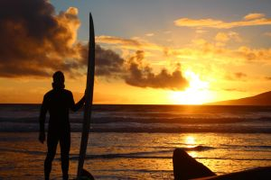 Sunset - Surfer Silhouette. by TheLegendHimself
