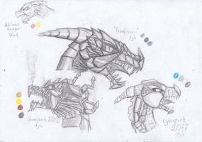 Robot Dragons Types by Alice4444DM