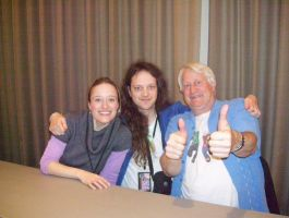 Me with Jen Taylor and Charles Martinet by PaladinCecil