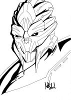 Turian Anger 'Uncoloured' by JiPoJiP