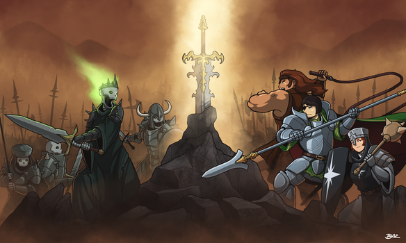 Battle for the Epic Sword Rock by Blazbaros