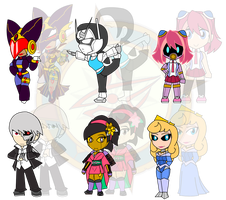 Assorted Chibis - AU Robot Take Over by Dragon-FangX