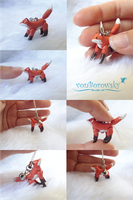 Micro Poseable Fox by vonBorowsky
