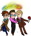 Trio of Clever Boys by FuriarossaAndMimma