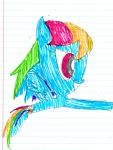 Rainbow Dash by MonstrousPegasister
