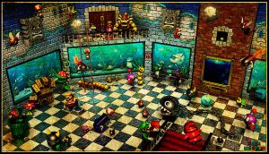 Super Mario 64 - 'Jolly Roger Bay' Room by robbienordgren