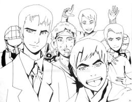 The Many Faces of Me (Anime Style) by ArtinScott
