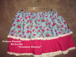 COUNTRY CHERRY Lolita Skirt by Tokyo-Trends