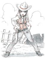 Cowgirl by tombancroft