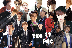 EXO's PNG Pack {MID Photocards} Baekhyun Added by kamjong-kai