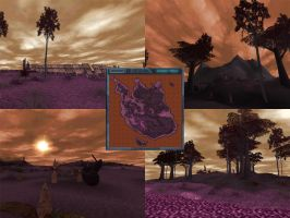 Carnivores Triassic - Sunset Field Map by Poharex