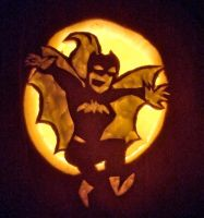 Batgirl Pumpkin by Metal--Chocobo