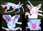 Big Floppy Sylveon Plush by racingwolf