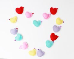 Colorful Heart Keychains by CosmiCosmos