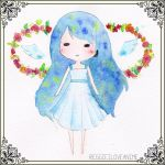 Watercolour Halo of Roses by Reggieiloveanime