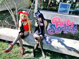 My Cosplay Stocking Anarchy Bunny by MarcelaHyuuga