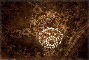 Chandelier-Prague State Opera by pingallery
