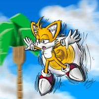 Tails Flying High by k1llerRabbit