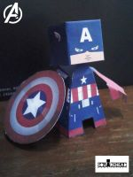 Captain America : The Avengers Movie Version Paper by jazzmellon