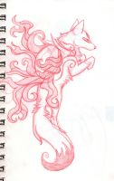 Okami red pencil by Om-nom-nomnivore