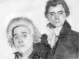 Prince Regent and Black Adder by Cattyonines