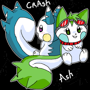 Crash and Ash by timmy-gost