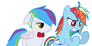 Rainbow Star And Lleay by Cherryblossom135