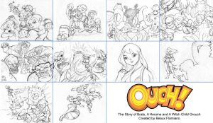 OUCH Page sketches by beaux-artworx