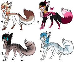 CLOSED - Canines Adoptables 395 by LeaAdoptables