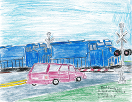 Read Family Stopped at a Railroad Crossing by WillM3luvTrains